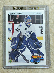 10-11-UD-20th-Anniversary-Young-Guns-Retro-246-DUSTIN-TOKARSKI-Rookie-RC