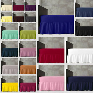 Luxury-Diamond-VALANCE-SHEET-Plain-Dyed-Bed-Sheet-Bedding-28-COLOURS-ALL-SIZES