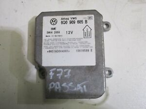 GENUINE-2002-VW-PASSAT-2-8-V6-PETROL-AUTO-2001-05-AIRBAG-MODULE