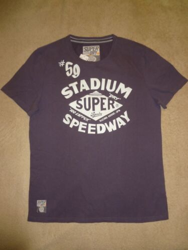 XL SUPERDRY Soot Purple STADIUM SPEEDWAY Mens  XXXL M XXL Cotton T-Shirt L