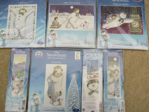 Choice of Designs DMC The Snowman and The Snowdog Cross Stitch Kit