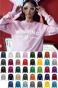 Winging-It-Sweatshirt-JH030-Sweater-Jumper-Funny-Cool-Slogan-Statement