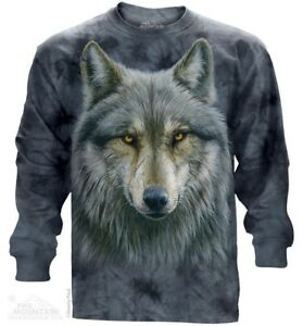 Warrior-Wolf-Long-Sleeve-T-Shirt-by-The-Mountain-Wolf-Tee-S-2XL-NEW