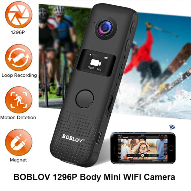 BOBLOV Wireless OLED 30fps Video Camera Recorder Motion Detection Loop Recording