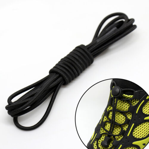 1 Pair Durable Sport Shoes Lace Adjustable Mens Womens Elastic No Tie Shoelaces