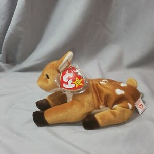 Ty Beanie Babies Whisper Fawn Deer Mint condition with Tag protector Retired