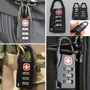 d39c7ac9961b Details about Alloy Safe Combination Code Number Lock Padlock for Luggage  Zipper Backpack
