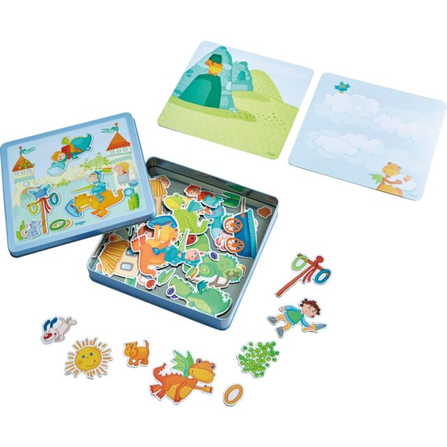 HABA 301949 Magnetspiel-Box Drachenritter Ab 3 Jahre + BONUS