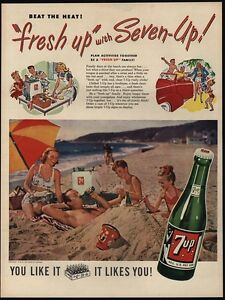 Image Is Loading 1948 7UP Soda Kids Bury Their Dad In