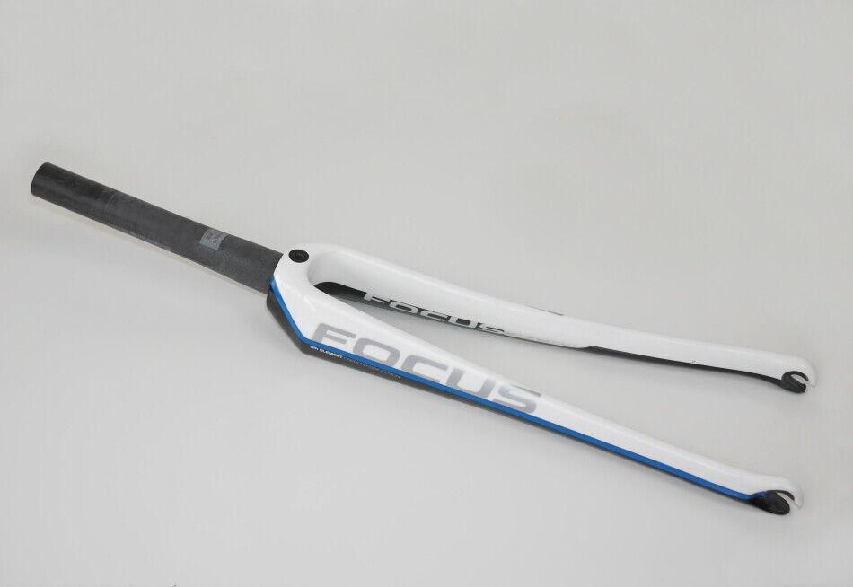 FOCUS Gabel Rennrad Carbon Taperot 1 1 8  1 1 4  Cayo Izalco Team 700c weiß blau