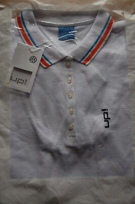 Bescheiden Original Vw Up! Damen Polo-shirt, Größe: M, 100% Baumwolle, Farbe: Weiß Neu, Ovp Hell In Farbe