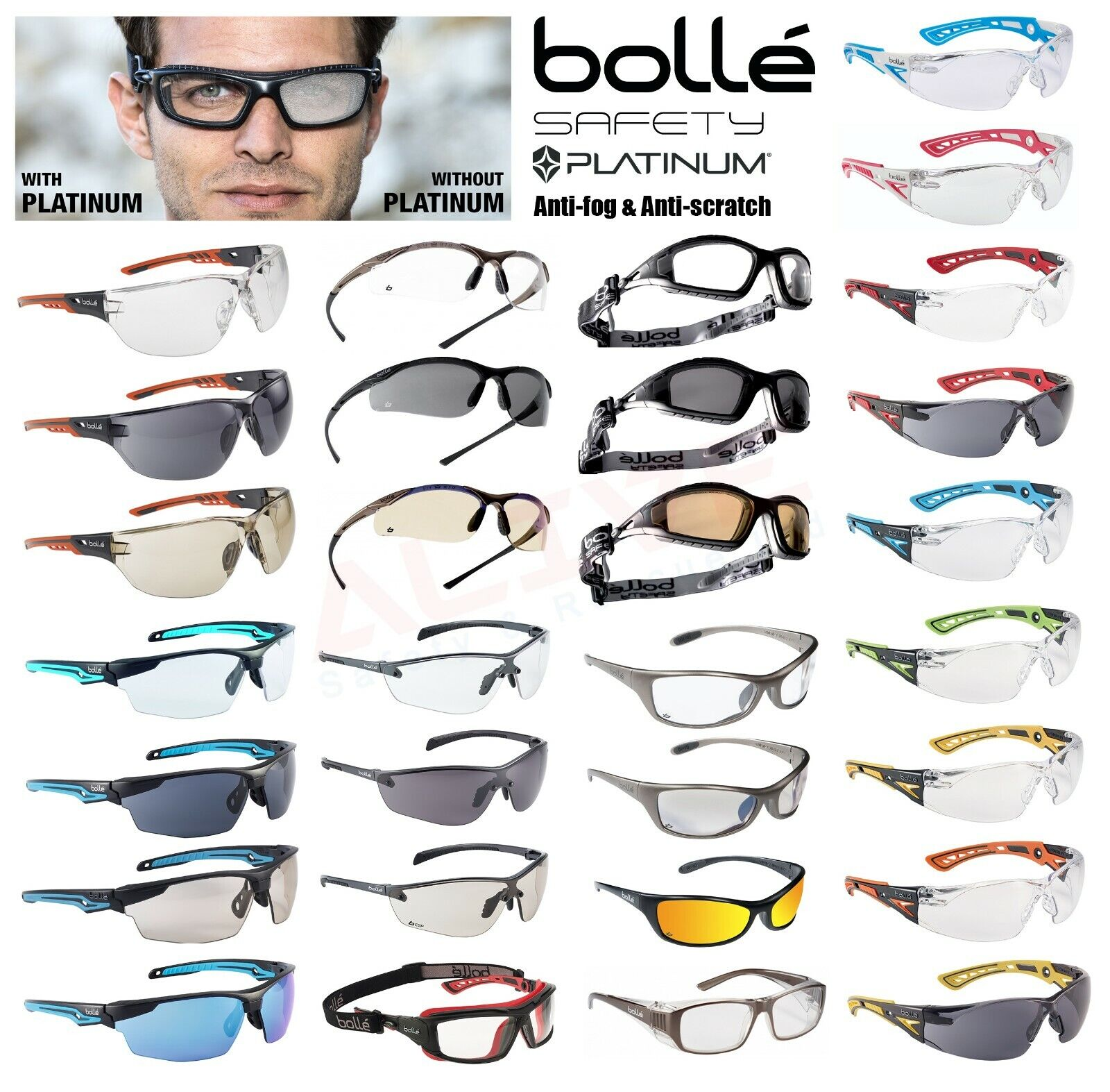 Bolle Ness Range Sports Cycling Safety Glasses Spectacles Eye Protection