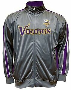 the latest ff452 6e537 Details about Minnesota Vikings Majestic Men's Charcoal Tricot Track Jacket  Big & Tall Sizes