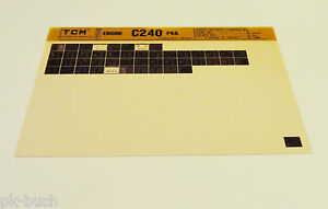 Microfich Spare Parts Catalog Tcm Fork-Lift Motor C 240 Pkg Stand 05/1986