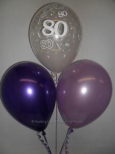 Image Is Loading 30 80th Birthday Party Helium Or Air Balloons