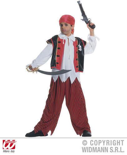 Enfants l/'île au trésor fantaisie robe Costume Tenue Pirate Capitaine 158cm