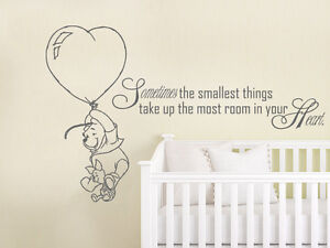 Image Is Loading Winnie The Pooh Wall Decal Kids Quote Vinyl
