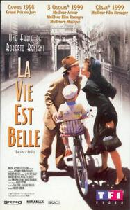 K7-VHS-LA-VIE-EST-BELLE-un-film-de-ROBERTO-BENIGNI-Vintage-1997