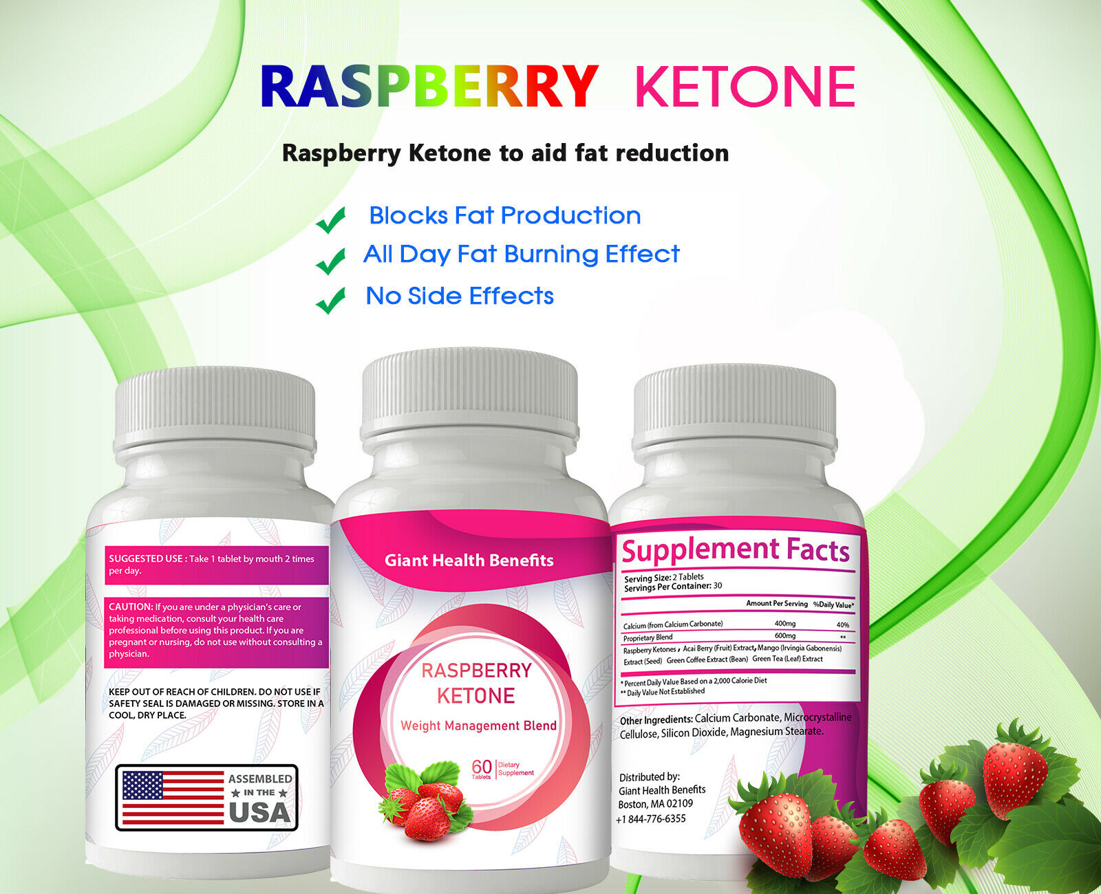 30 Strength Raspberry Ketones Weight Loss Slimming Ketone Diet Capsules Bottle For Sale Online Ebay