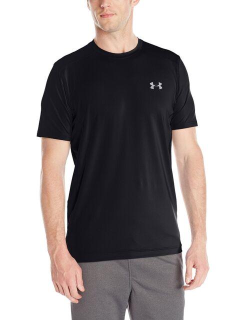 Under Armour 1257466 Mens UA RAID Short Sleeve Tee Shirt Black Large ... a35e4fdec4