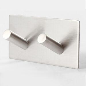 edelstahl selbstklebend haken rack badezimmer k che handtuch wandhalterung ebay. Black Bedroom Furniture Sets. Home Design Ideas