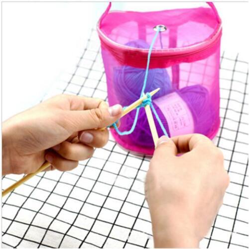 Gran bolsa de almacenamiento de hilo Tejer Crochet Bolso Organizador Portátil caso DB