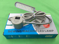 Pfaff Led-33 110v Sewing Machine Lamp Light Magnetic 7 Gooseneck Mount + Plug