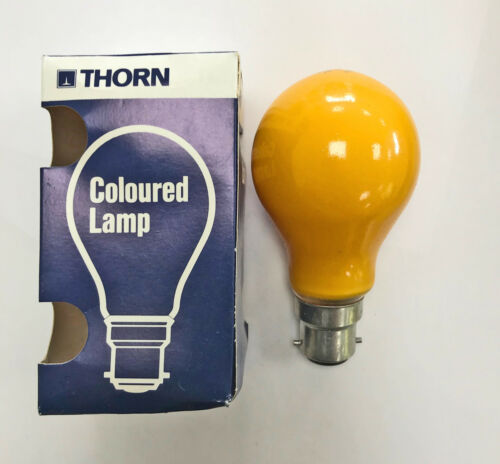 Thorn 15w 240v BC Amber Dimmable Standard coloured GLS Bulb PartyLight