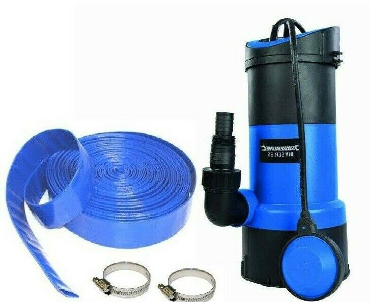 Submersible Water Pump 750w + 30m x 32mm Dirty/Clean water 13000 ltr/hr Hot TUb