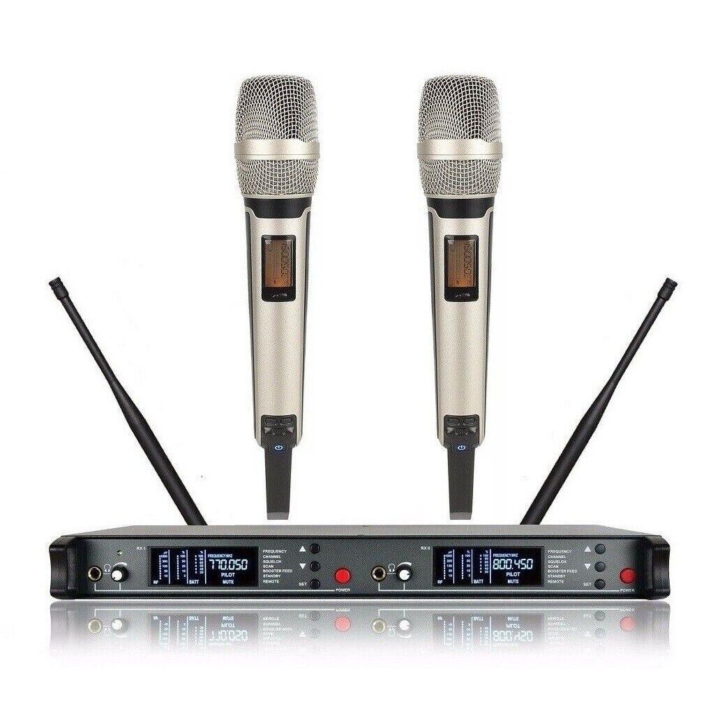 Dual Wireless Microphone UHF Karaoke mic System For Shure Microphone Stage DJ