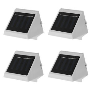 4x-Solar-Powered-Wall-Mount-LED-Light-Outdoor-Garden-Landscape-Fence-Yard-Lamp