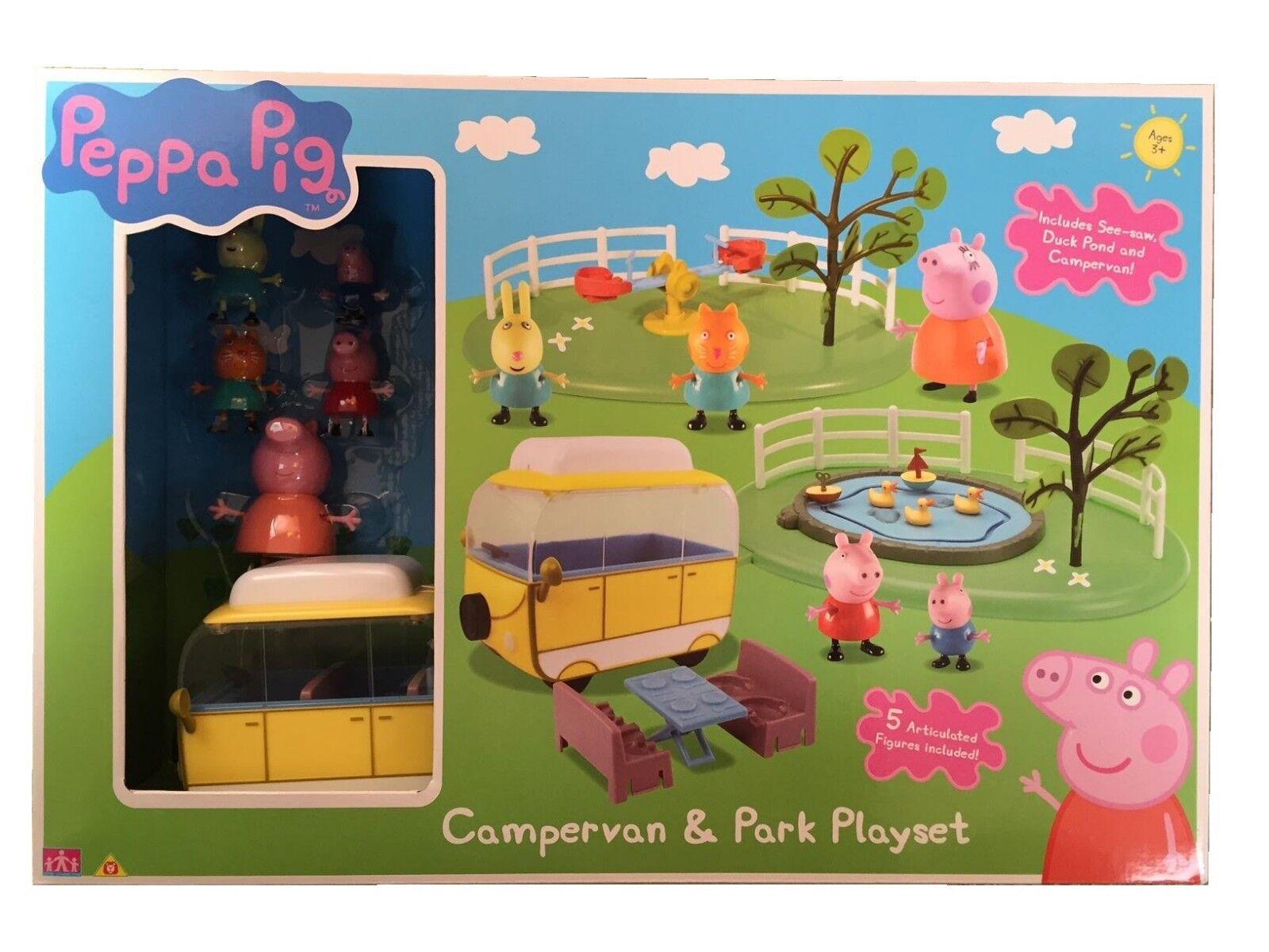 Peppa Pig Wohnwagen & Parken Mega Spielset & Zubehör Spielzeug 3+