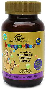 Solgar-Kangavites-Multivit-amp-Mineral-60-Chewable-vegan-Tablets-Tropical-Punch