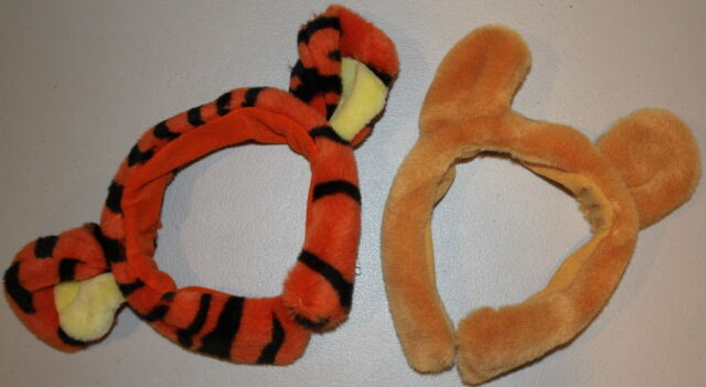walt disney winnie the pooh and tigger cute plush headband ears halloween