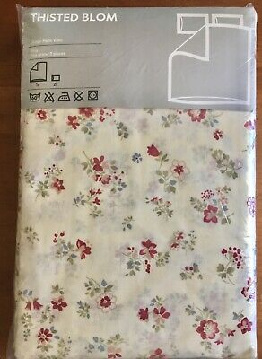 w// 2 Pillowcases IKEA King Thisted Blom Duvet Cover Set 100/% Cotton Brand New