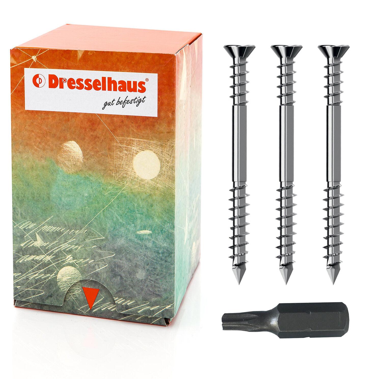 Terrassenschrauben Edelstahl A2 Torx 5x40–80 mm Terassenschrauben mit CUT-Spitze  | Wir haben von unseren Kunden Lob erhalten.