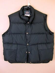Woolrich Down Vest XL Blue Puffer Winter Extra Large Mens