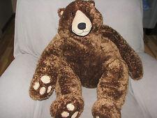CIRCO STUFFED PLUSH FURRY FLOPPY CHOCOLATE BROWN TEDDY BEAR CORDUROY BIG HUGE