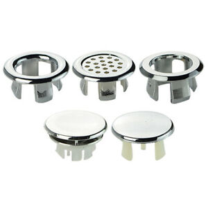 Bathroom Fixtures Bathroom Basin Sink Overflow Ring Six-foot Round Insert Chrome Hole Cover Cap Clients First