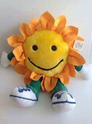 "NEW 20"" Balloons Inc Sunflower SMILE Face Sneaker Feet Plush Stuffed Toy CUTE !!"