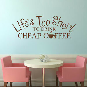 Ordinaire Image Is Loading Kitchen Art Wall Decal Life Is Too Short