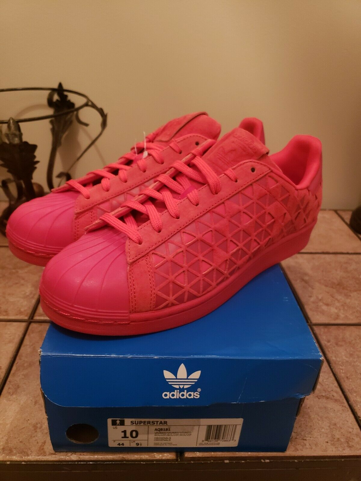 New.Adidas Superstar Xeno AQ8181 Reflective Red Casual shoes. Men's Size 10