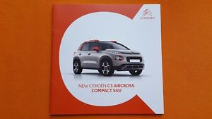 Citroen C3 Aircross Compact SUV brochure sales catalogue July 2017 MINT C 3 - Saltburn, North Yorkshire, United Kingdom - Citroen C3 Aircross Compact SUV brochure sales catalogue July 2017 MINT C 3 - Saltburn, North Yorkshire, United Kingdom
