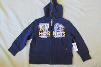 Baby Boy's Old Navy Hoodie Sweatshirt Zip-up Size 18-24 Months Blue & Yellow