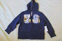 Baby Boy's Old Navy Hoodie Sweatshirt Zip-up Size 18-24 Months Blue & Yellow