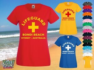 2ea7f8e7748 LIFEGUARD Womens Rescue Custom T-SHIRT Surf Surfer Baywatch Swimming ...