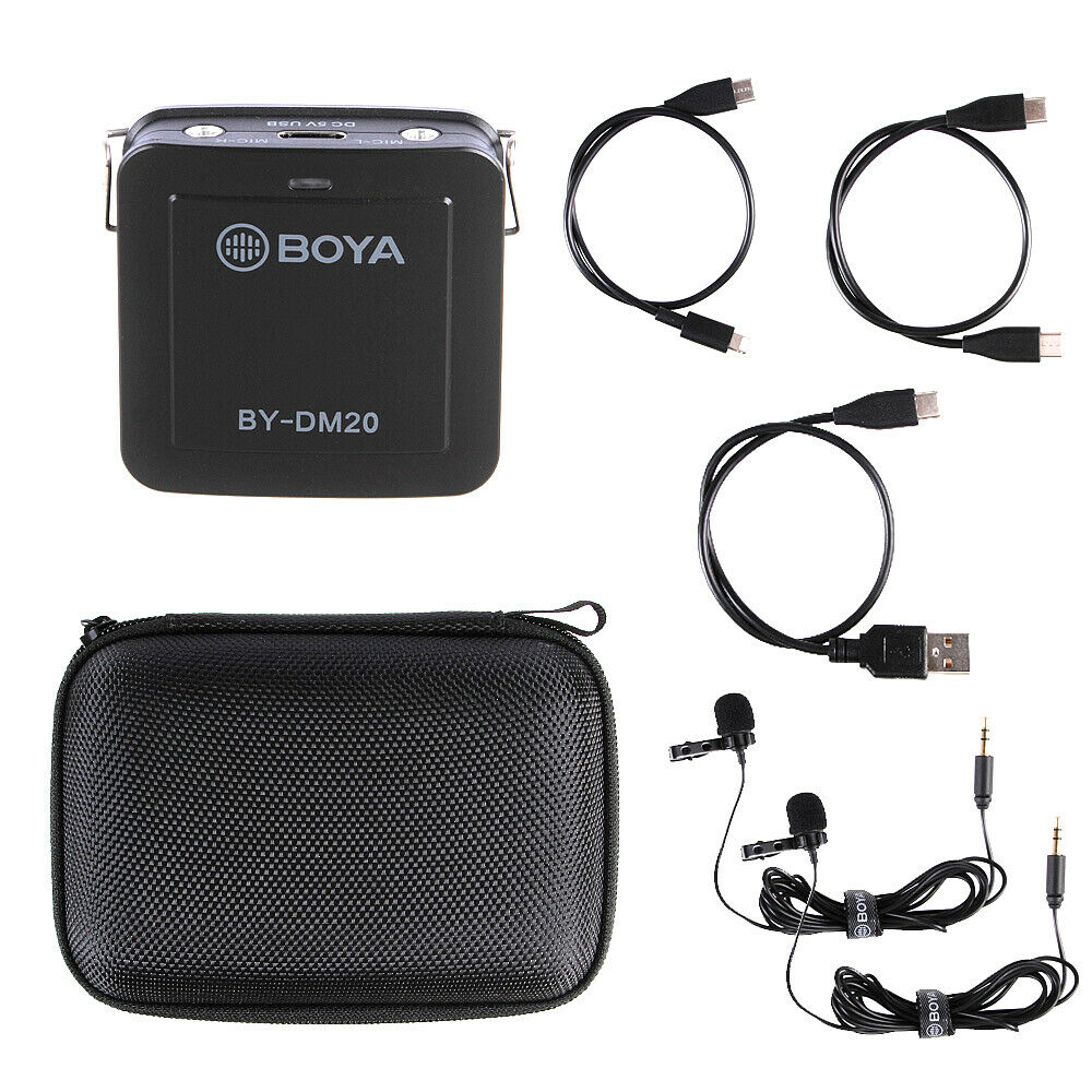 Dual Lavalier Microphone 2 Heads For iPhone Android Smartphone Laptop PC