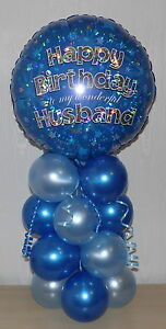 Image Is Loading HUSBAND HAPPY BIRTHDAY PARTY FOIL BALLOON DISPLAY TABLE