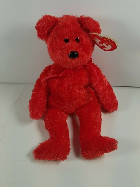 Sizzle 2001 Ty Beanie Babie Red Valentines Day 8in Bear 3up Boys Girls 4399 for sale online