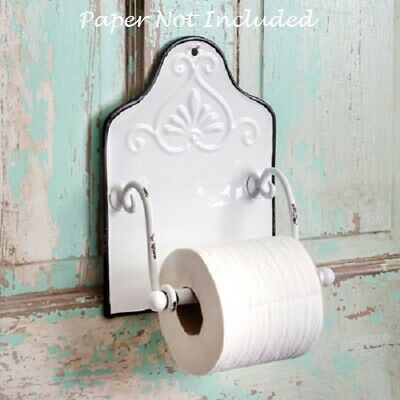French Country Farmhouse Chic Chippy White Toilet Paper